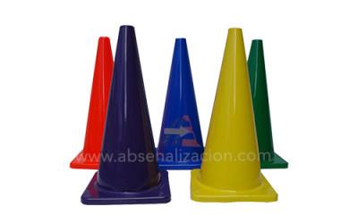 Conos Viales en PVC Colores