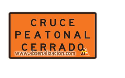 Cruce Peatonal Cerrado